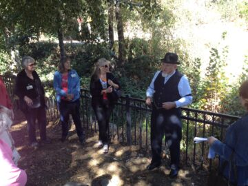 Placerville Historic Tour, October 2016. Anne Mintmier, Judy Cooper, Kathryn Anderson and Don Eulmen.